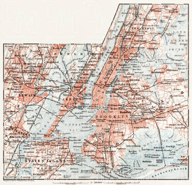 Map of the Nearer Environs of New York, 1909. Use the zooming tool to explore in higher level of detail. Obtain as a quality print or high resolution image
