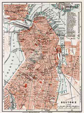 Boston city map, 1909 (Boston II: Centre)