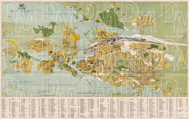 Viipuri (Vyborg) city map, 1935. Use the zooming tool to explore in higher level of detail. Obtain as a quality print or high resolution image