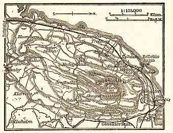 Kinnekulle map, 1910