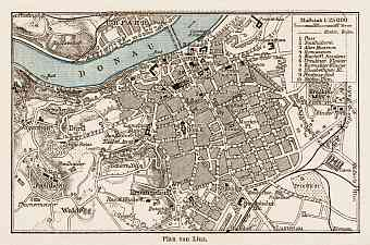 Linz city map, 1903