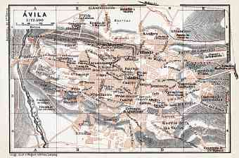 Ávila city map, 1913