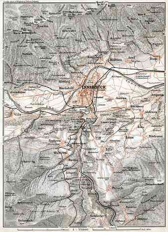 Innsbruck region map, 1910