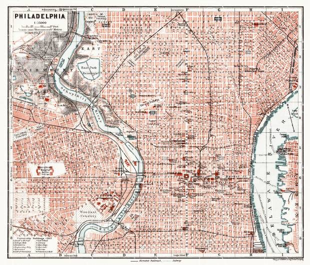 Philadelphia city map, 1909. Use the zooming tool to explore in higher level of detail. Obtain as a quality print or high resolution image