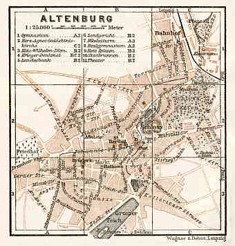 Altenburg city map, 1911