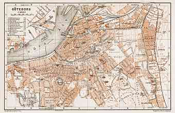 Göteborg (Gothenburg) city map, 1931