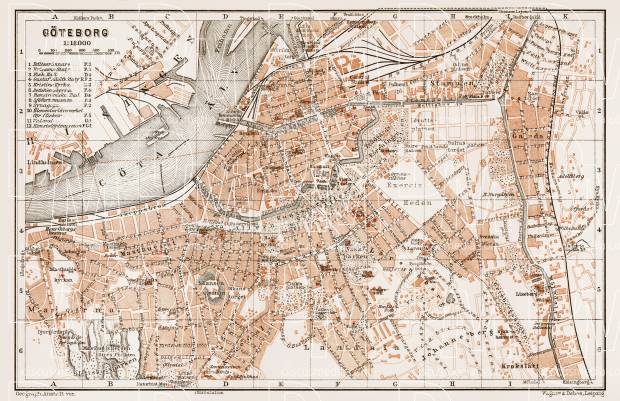 Göteborg (Gothenburg) city map, 1931. Use the zooming tool to explore in higher level of detail. Obtain as a quality print or high resolution image