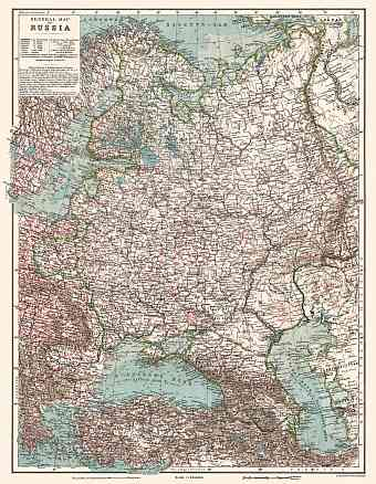 Finland on the general map of the Russian Empire (western part), 1914