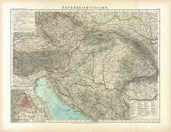 Austria-Hungary Map, 1910