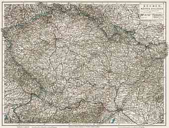 Slovakia on the general map of Bohemia, Moravia and Silesia, 1910