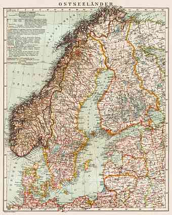 Finland on the general map of the Baltic Lands (Ostseeländer), 1931