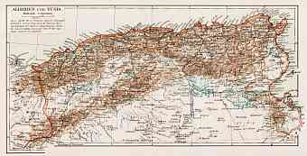 Algeria on the general map of Algeria and Tunisia, 1913