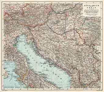 Hungary on the map of Yugoslavia and Adriatic region, 1929