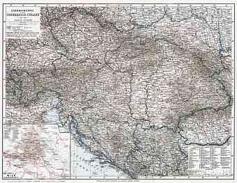 Hungary on the railway map of Austria-Hungary and surrounding states, 1910