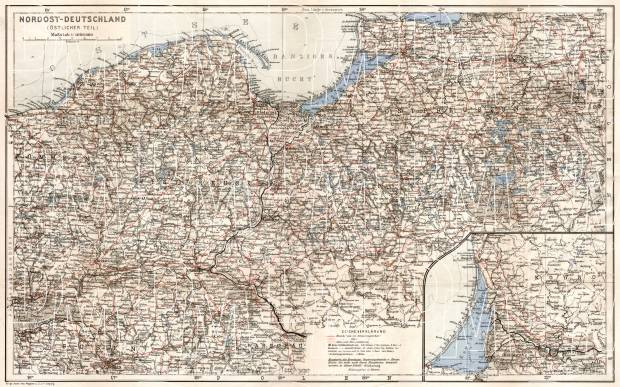 Old Map Of Northeast Germany With East Prussia In 1911 Buy Vintage