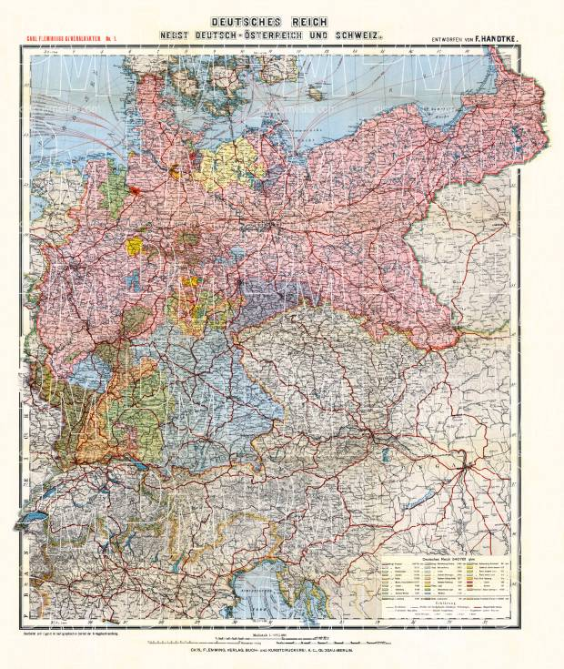 west poland on the map of german empire 1903 use the zooming tool to
